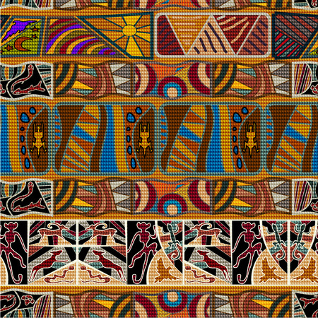 ethno: African ethnic seamless pattern. Vector illustration