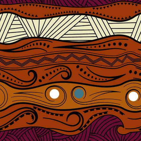 Abstract naadloos patroon met Afrikaanse motieven. Vector illustratie. Vector Illustratie