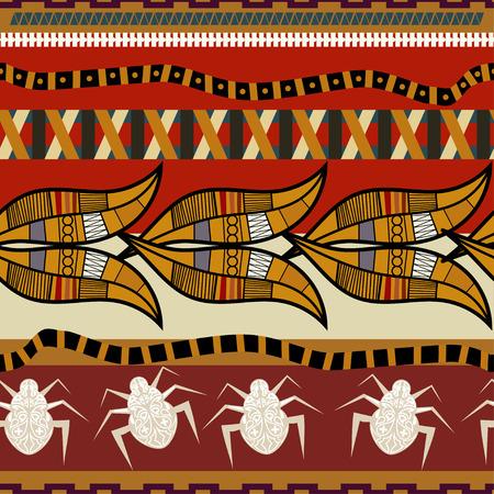 ethno: Seamless pattern in Egyptian style. Vector illustration