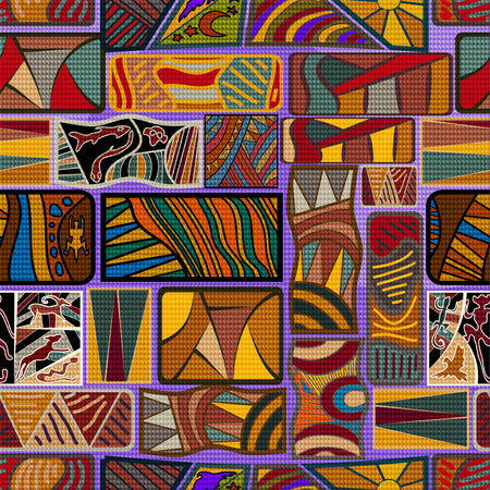 ethno: African seamless texture. Vector illustration Illustration