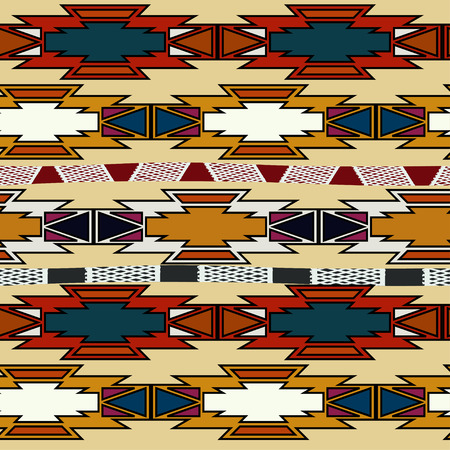 Abstract seamless Aztec.