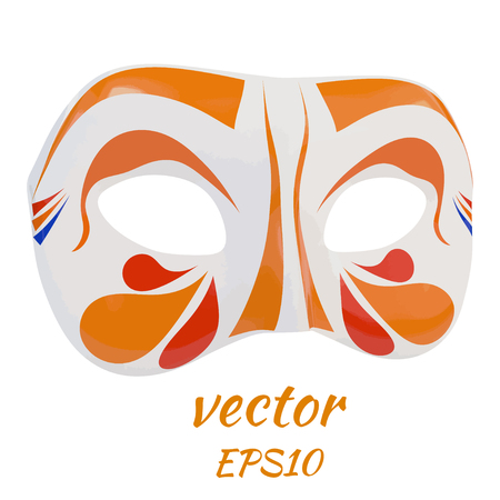 operetta: Bright carnival mask on a white background. Vector  illustration Illustration
