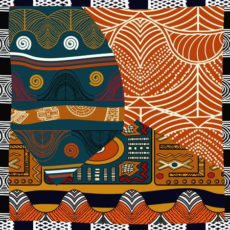 Indienne de couleur transparente pattern.Vector illustration