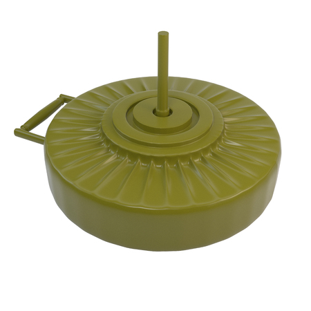 landmine: Anti-tank mine, isolated on white background. 3d illustration. Stock Photo