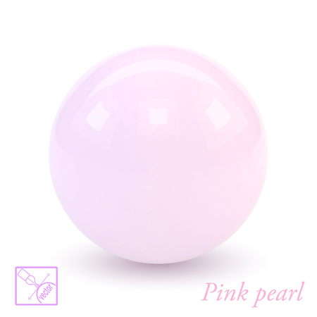 pink pearl: Pink pearl isolated on a white background. Glamorous design. Vector illustration.