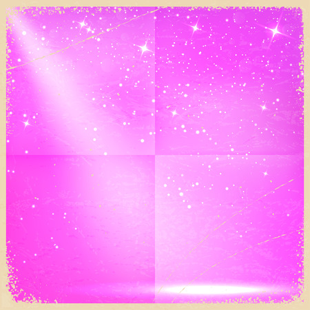 amaranthine: Purple vintage retro background with stars. Vector illustration Illustration