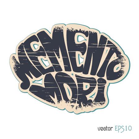 mori: Memento Mori. Latin saying in vintage style. Vector illustration
