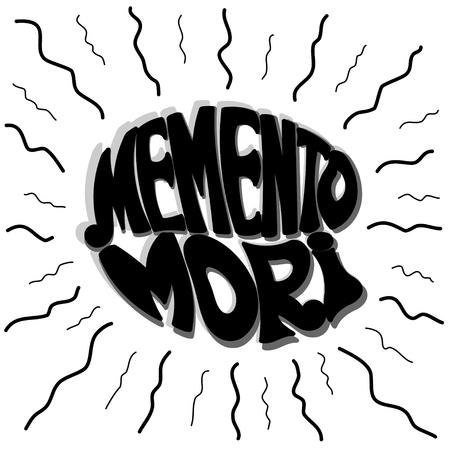 mori: Memento Mori wavy rays. Vector illustration