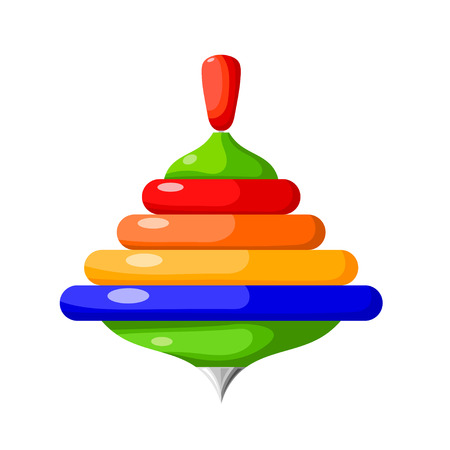 simbols: Cartoon whirligig on a white background. Vector illustration