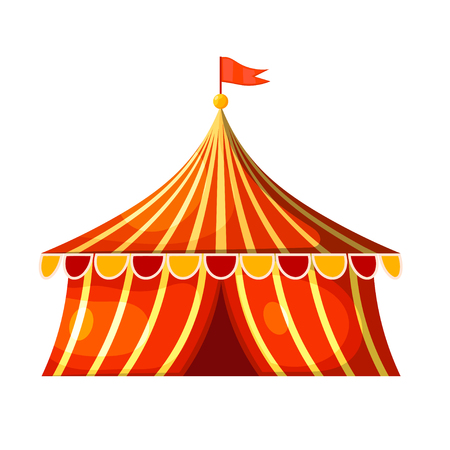 marquee tent: Cartoon circus marquee tent. Vector illustration