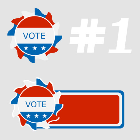 polling place: Set Icon blue ballot box. Referendum icon - ballot box with red cap. Symbol of free voting in America symbol. The concept of a free people. Element for design of the campaign. Vector Stock