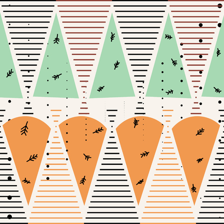 memphis: Seamless pattern in the Memphis style. Memphis Vintage texture in the style of 80c. Sample  Memphis for fabrics and design. Stock vector
