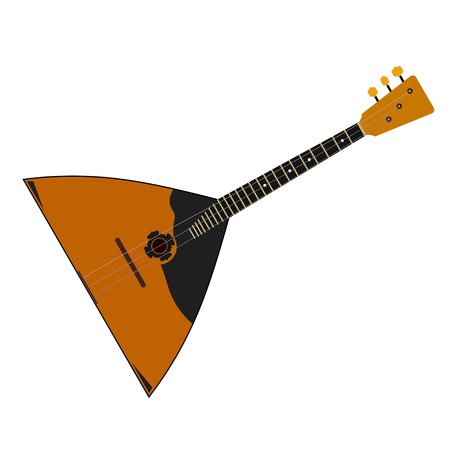 balalaika: The national Russian musical instrument on a white background. Balalaika. Isolate. Subject  of Russian culture. Stock vector illustration