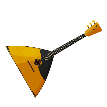 balalaika: The national Russian musical instrument on a white background. Balalaika. Cartoon style. Subject of Russian culture. Stock vector illustration Illustration