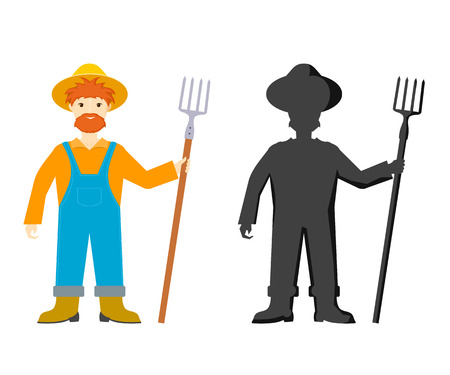 an agronomist: Cartoon farmer.