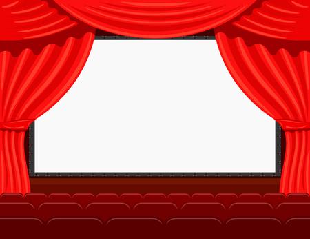 auditorium: Auditorium of the the cinema.Stock vector