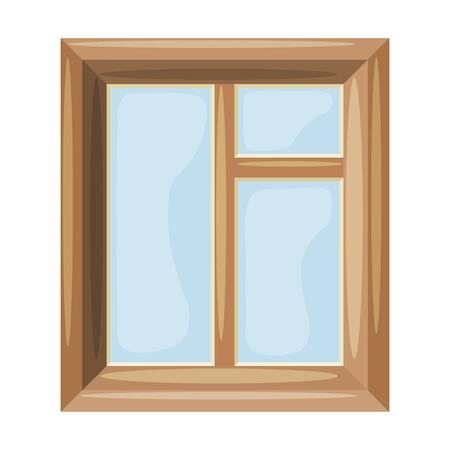 housing style: Cartoon Vector illustration of abstract windows on a white background. Cartoon style. Cartoon Housing Element window