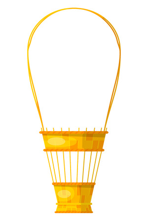 eco flowers basket: Vector image of a simple color flower baskets made of wicker. Illustration