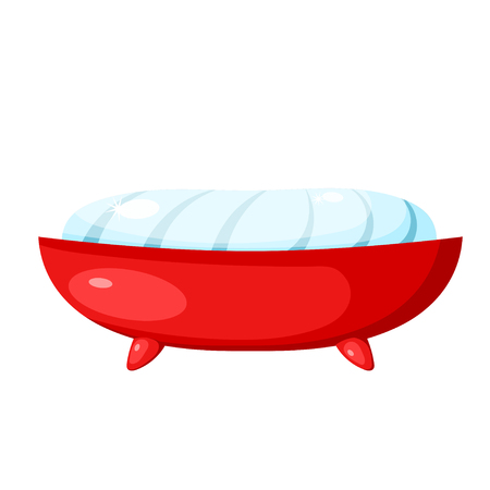 Vector image of soap and soap dish on a white background. Cartoon color soap on a  white background. Object of hygiene and body care
