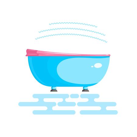 Illustrazione a colori di un dispositivo per idromassaggio dei piedi.
