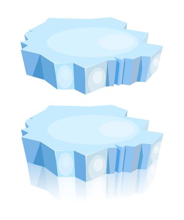 rtoon van ijsschots op een witte achtergrond. Vector illustratie Stock Illustratie