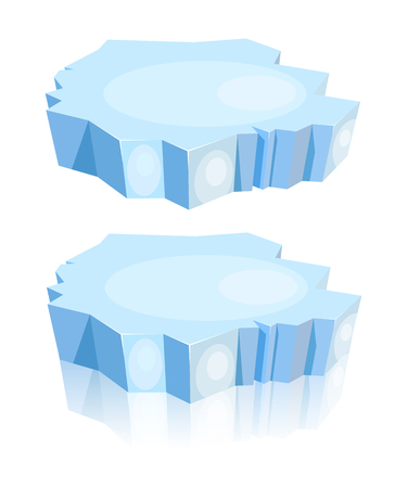 rtoon of ice floe on a white background. Vector illustration