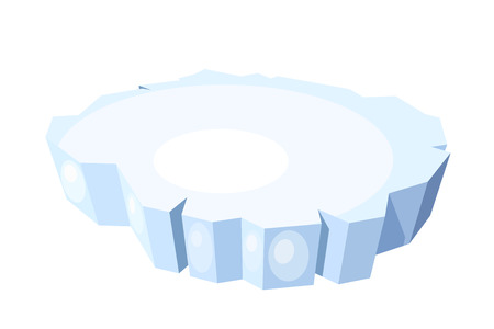 Cartoon of ice floe on a white background. Vector illustration Stock Illustratie