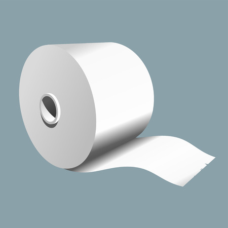 Roll of paper on a colored background. Vector illustration