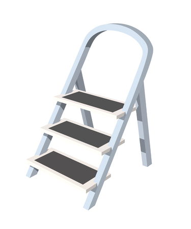 Staircase stepladder on a white background tool repair vector illustration Vettoriali