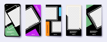 Set of modern templates for the phone. Vector illustration Фото со стока - 127590280
