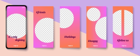Set of modern templates for the phone. Vector illustration