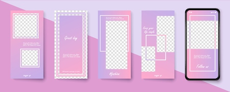 Set of modern templates for the phone. Vector illustration Фото со стока - 127590291