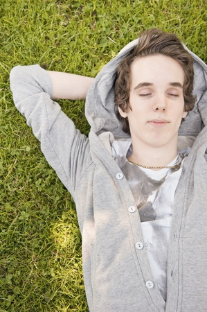 Young man relaxing Stock Photo - 10573627