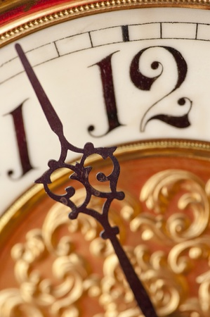 Close-up of Old-Fashioned clock Stock Photo