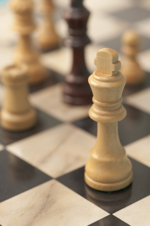 Close up of chess board with chess pieces Stock Photo - 12636395
