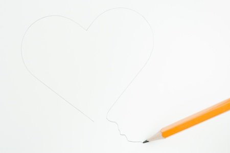 heartbreak issues: Failing in drawing a heart with a yellow pencil