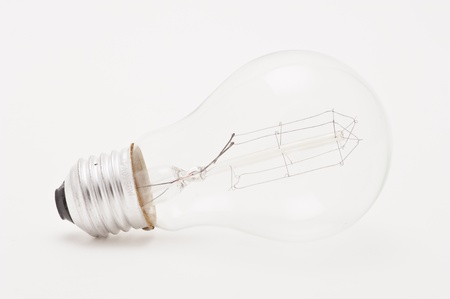 Studio shot of a light bulb on white background Stock Photo - 12636377