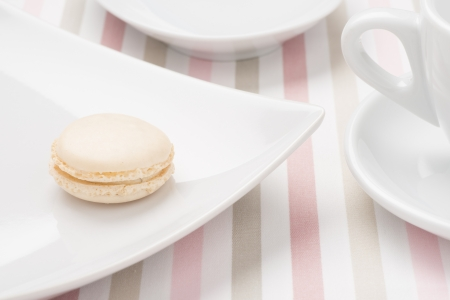 Closeup of macaroon at afternoon tea Stock Photo