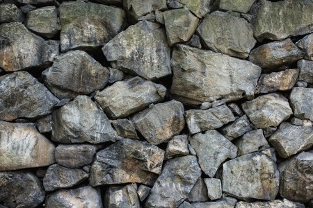 Surface of natural rock tiled into solid wall with nice texture Stock Photo - 15193774