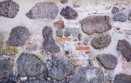 Old fashioned house exter with weathered rough surface on the wall Stock Photo - 16935337