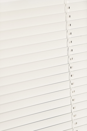 Closeup of shut venetian blind photo