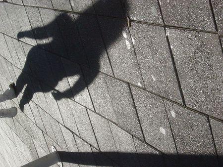 Feminine Shadow Stok Fotoğraf