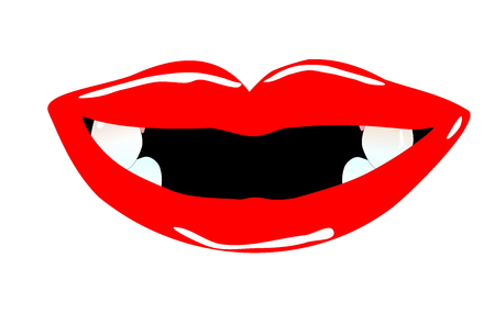 a nice mouth with tooth gaps Stock Photo