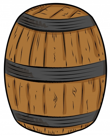 Sketch whisky cask Vector