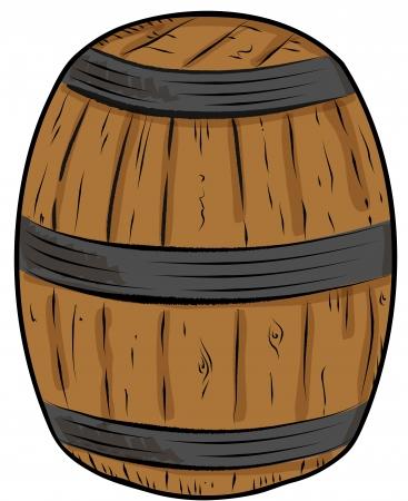 Sketch whisky cask Illustration