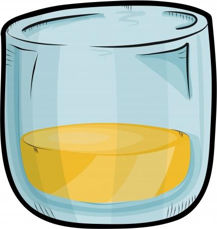 bourbon whisky: Sketch whisky jar Illustration