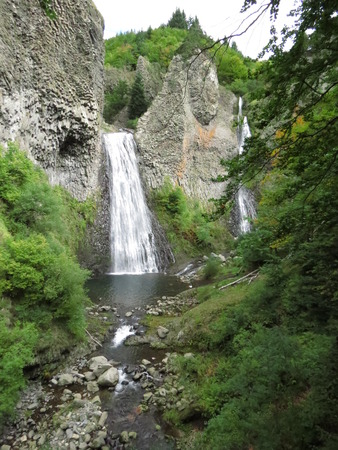 volcanism: Cascade du Ray Pic (Ardeche) - Waterfall