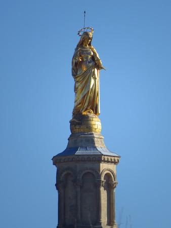 christendom: Cathedrale Notre-Dame des Doms et Vierge Marie - Cathedral Notre-Dame des Doms and Mary, Avignon