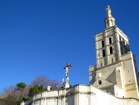 Cathedrale Notre-Dame des Doms et Vierge Marie - Cathedral Notre-Dame des Doms and Mary, Avignon