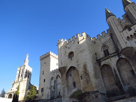 palais: Palais des Papes, Avignon, France Stock Photo